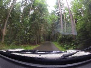 Waldpassage mit Trabi